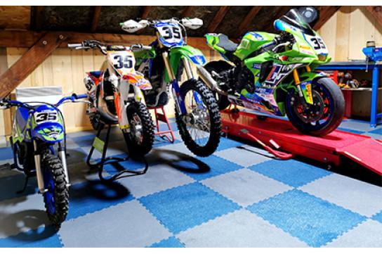 Dalles PVC Garage